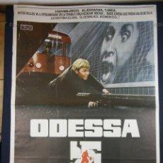 Cine: POSTER CINE ORIGINAL ODESSA JON VOIGHT MARY TAMM MAXIMILIAM SCHELL DIRIGIDA RONALD NEAME 1975. Lote 42710877