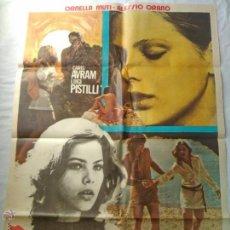 Cine: PÓSTER ORIGINAL VIOLACIÓN BAJO EL SOL (1977). Lote 42726496