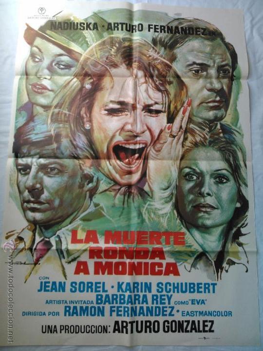 PÓSTER ORIGINAL LA MUERTE RONDA A MÓNICA (1977) (Cine - Posters y Carteles - Terror)