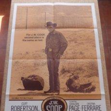 Cine: J. W. COOP PÓSTER ORIGINAL DE LA PELÍCULA, DOBLADO, 1972, CLIFF ROBERTSON, GERALDINE PAGE, U.S.A.. Lote 42873040