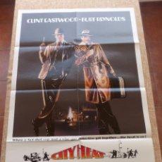 Cine: CITY HEAT (CIUDAD MUY CALIENTE) PÓSTER ORIGINAL DE LA PELÍCULA, DOBLADO, CLINT EASTWOOD, U.S.A, 1984. Lote 42873153