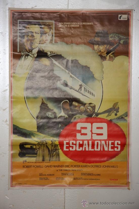 39 ESCALONES. (Cine - Posters y Carteles - Clasico Español)