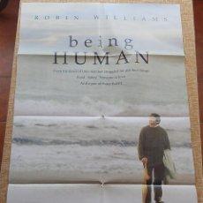 Cine: BEING HUMAN (SER HUMANO) PÓSTER ORIGINAL DE LA PELÍCULA, DOBLADO, ROBIN WILLIAMS, U.S.A. , AÑO 1994. Lote 42917726