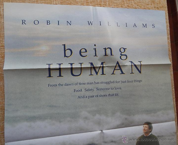 Cine: Being Human (Ser Humano) Póster original de la película, Doblado, Robin Williams, U.S.A. , año 1994 - Foto 2 - 42917726