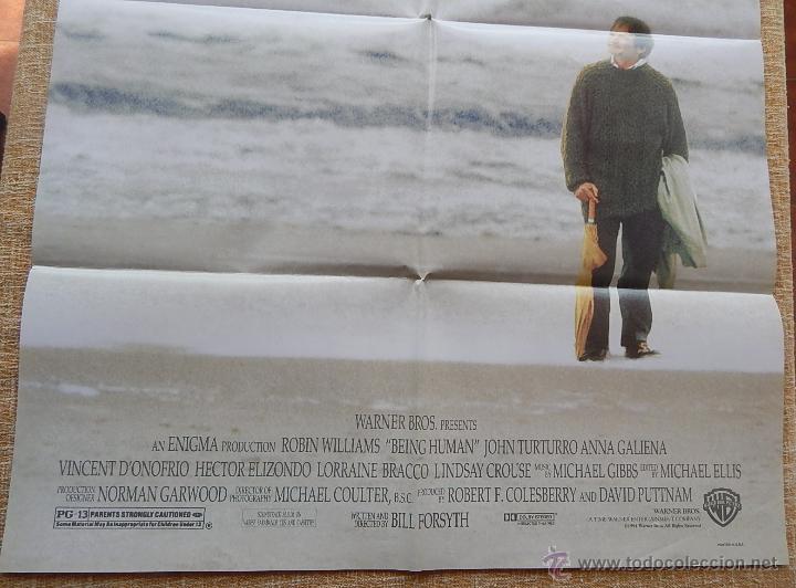 Cine: Being Human (Ser Humano) Póster original de la película, Doblado, Robin Williams, U.S.A. , año 1994 - Foto 3 - 42917726