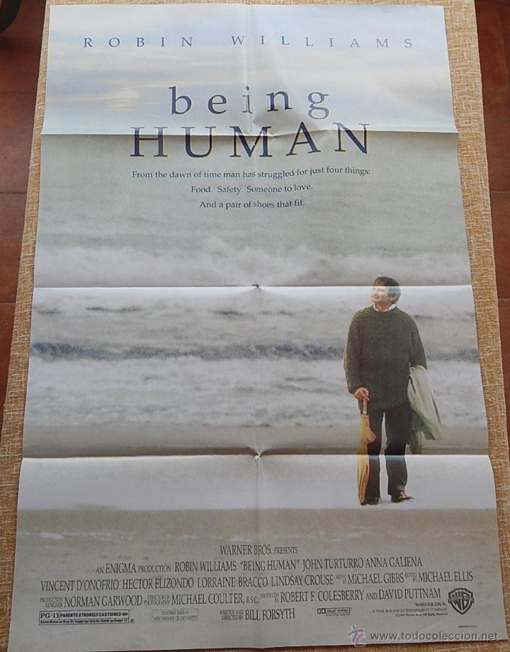 Cine: Being Human (Ser Humano) Póster original de la película, Doblado, Robin Williams, U.S.A. , año 1994 - Foto 4 - 42917726