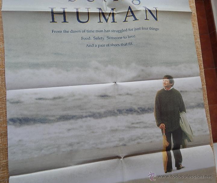 Cine: Being Human (Ser Humano) Póster original de la película, Doblado, Robin Williams, U.S.A. , año 1994 - Foto 5 - 42917726