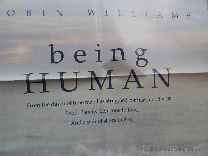 Cine: Being Human (Ser Humano) Póster original de la película, Doblado, Robin Williams, U.S.A. , año 1994 - Foto 6 - 42917726