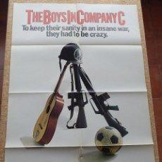 Cine: THE BOYS IN COMPANY C (LOS CHICOS DE LA COMPAÑÍA C) PÓSTER ORIGINAL DE LA PELÍCULA, DOBLADO, 1978. Lote 42918010