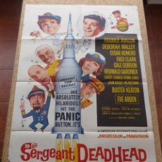 Cine: SERGEANT DEADHEAD THE ASTRONUT! PÓSTER ORIGINAL DE LA PELÍCULA, DOBLADO, HECHO EN U.S.A., AÑO 1965. Lote 42919958