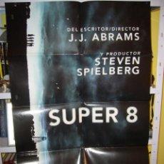 Cine: SUPER 8 STEVEN SPIELBERG POSTER ORIGINAL 70X100 AVANCE Q. Lote 42934030