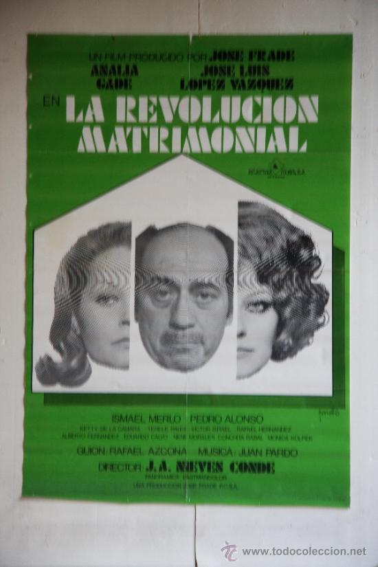 LA REVOLUCION MATRIMONIAL. (Cine - Posters y Carteles - Clasico Español)