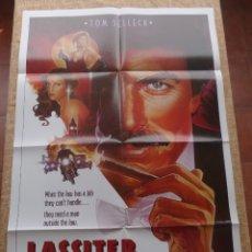 Cine: LASSITER PÓSTER ORIGINAL DE LA PELÍCULA, DOBLADO, HECHO EN U.S.A., AÑO 1984, TOM SELLECK, J. SEYMOUR. Lote 42979072
