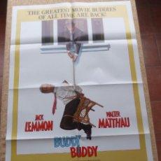 Cine: BUDDY BUDDY (AQUÍ, UN AMIGO) PÓSTER ORIGINAL DE LA PELÍCULA, DOBLADO, U.S.A., AÑO 1981, JACK LEMMON. Lote 42979927