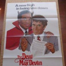 Cine: THE DEVIL AND MAX DEVLIN (UN PACTO DE MIL DEMONIOS) PÓSTER ORIGINAL DE LA PELÍCULA, DOBLADO, 1981. Lote 42980063