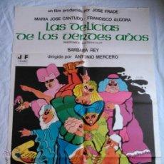 Cine: PÓSTER ORIGINAL LAS DELICIAS DE LOS VERDES AÑOS (1976). Lote 43014761