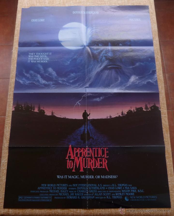 APPRENTICE TO MURDER (APRENDIZ DE ASESINO) PÓSTER ORIGINAL DE LA PELÍCULA, DOBLADO, U.S.A., AÑO 1988 (Cine - Posters y Carteles - Aventura)