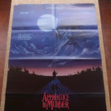 Cine: APPRENTICE TO MURDER (APRENDIZ DE ASESINO) PÓSTER ORIGINAL DE LA PELÍCULA, DOBLADO, U.S.A., AÑO 1988. Lote 43055519