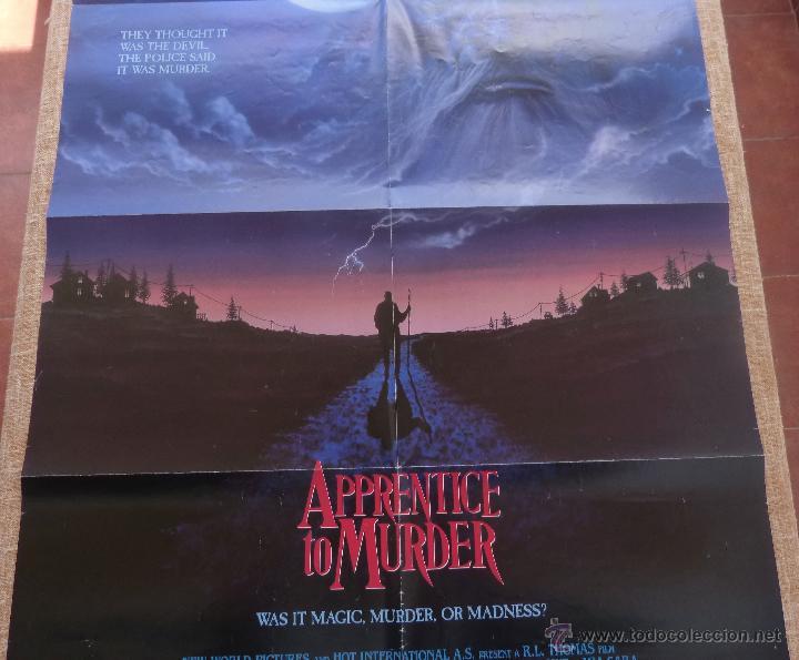 Cine: Apprentice to Murder (Aprendiz de Asesino) Póster original de la película, Doblado, U.S.A., año 1988 - Foto 3 - 43055519