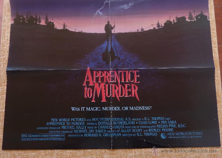 Cine: Apprentice to Murder (Aprendiz de Asesino) Póster original de la película, Doblado, U.S.A., año 1988 - Foto 4 - 43055519