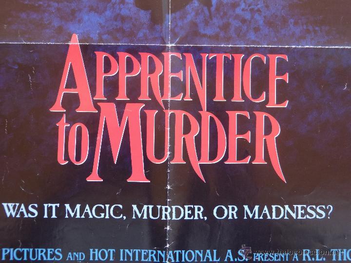 Cine: Apprentice to Murder (Aprendiz de Asesino) Póster original de la película, Doblado, U.S.A., año 1988 - Foto 7 - 43055519