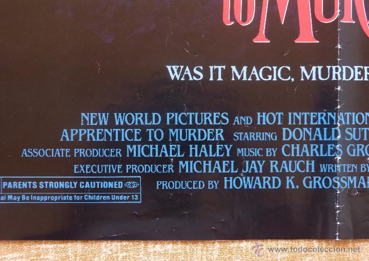 Cine: Apprentice to Murder (Aprendiz de Asesino) Póster original de la película, Doblado, U.S.A., año 1988 - Foto 9 - 43055519