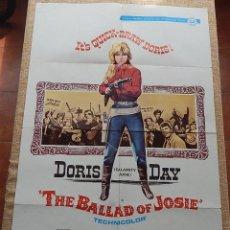 Cine: THE BALLAD OF JOSIE (DESAFÍO EN EL RANCHO) PÓSTER ORIGINAL DE LA PELÍCULA, DOBLADO, U.S.A., AÑO 1968. Lote 43055883