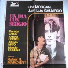 Cine: PÓSTER ORIGINAL UN DIA CON SERGIO (1975). Lote 43060215