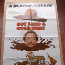 Cine: HOT LEAD AND COLD FEET (PLOMO CALIENTE Y PIES FRÍOS) PÓSTER ORIGINAL DE LA PELÍCULA, DOBLADO, 1978. Lote 43089249