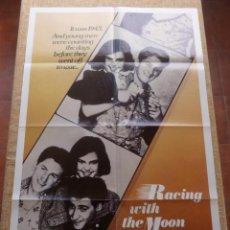 Cine: RACING WITH THE MOON PÓSTER ORIGINAL DE LA PELÍCULA, DOBLADO, HECHO EN U.S.A., AÑO 1984, SEAN PENN. Lote 43089554