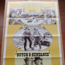 Cine: LOS PRIMEROS GOLPES DE BUTCH CASSIDY Y SUNDANCE PÓSTER ORIGINAL DE LA PELÍCULA, DOBLADO, U.S.A, 1979. Lote 43096367