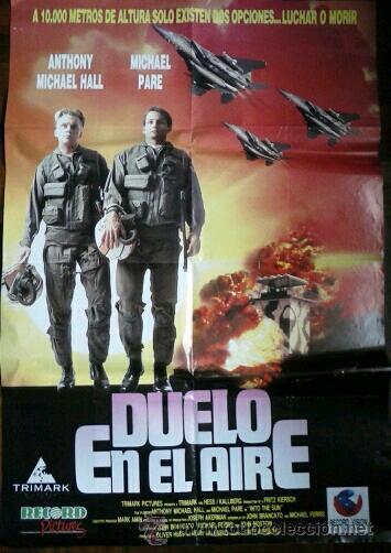 CARTEL PELICULA DUELO EN EL AIRE (Cine - Posters y Carteles - Bélicas)