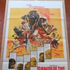 Cine: THE SANDS OF THE KALAHARI (LAS ARENAS DEL KALAHARI) PÓSTER ORIGINAL DE LA PELÍCULA, DOBLADO, 1965. Lote 43202942