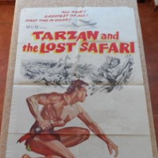 Cine: TARZAN AND THE LOST SAFARI(TARZÁN Y EL SAFARI PERDIDO) PÓSTER ORIGINAL DE LA PELÍCULA, DOBLADO, 1957. Lote 43203416