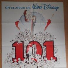 Cine: 101 DALMATAS. CARTEL ORIGINAL DE CINE 70 X 100.. Lote 43204687