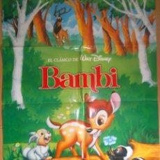Cine: BAMBI. CARTEL ORIGINAL DE CINE 70 X 100.. Lote 43204913