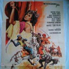 Cine: PÓSTER ORIGINAL CARAVANA DE ESCLAVOS (1972). Lote 43231939