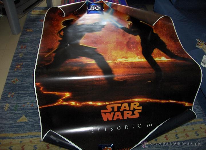 STAR WARS EPISODIO III LA VENGANZA DE LOS SITH. CARTEL DE MARQUESINA 175X120 CMS. BUEN ESTADO. (Cine - Posters y Carteles - Ciencia Ficción)