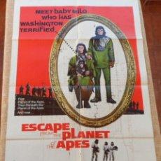 Cine: ESCAPE FROM THE PLANET OF THE APES (EL PLANETA DE LOS SIMIOS) PÓSTER ORIGINAL DE LA PELÍCULA, 1971. Lote 43308578