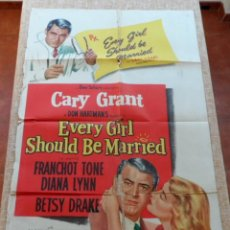 Cine: EVERY GIRL SHOULD BE MARRIED (EN BUSCA DE MARIDO) PÓSTER ORIGINAL DE LA PELÍCULA, DOBLADO, USA, 1948. Lote 43308931