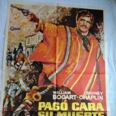 Cine: PÓSTER ORIGINAL PAGÓ CARA SU MUERTE (1977) DIS: MAC. Lote 43372472