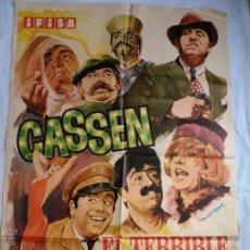 Cine: PÓSTER ORIGINAL EL TERRIBLE DE CHICAGO. CASSEN. (1967). Lote 43372718