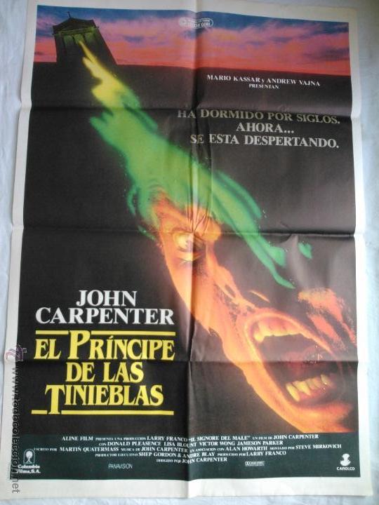 PÓSTER ORIGINAL EL PRÍNCIPE DE LAS TINIEBLAS. JOHN CARPENTER (Cine - Posters y Carteles - Terror)