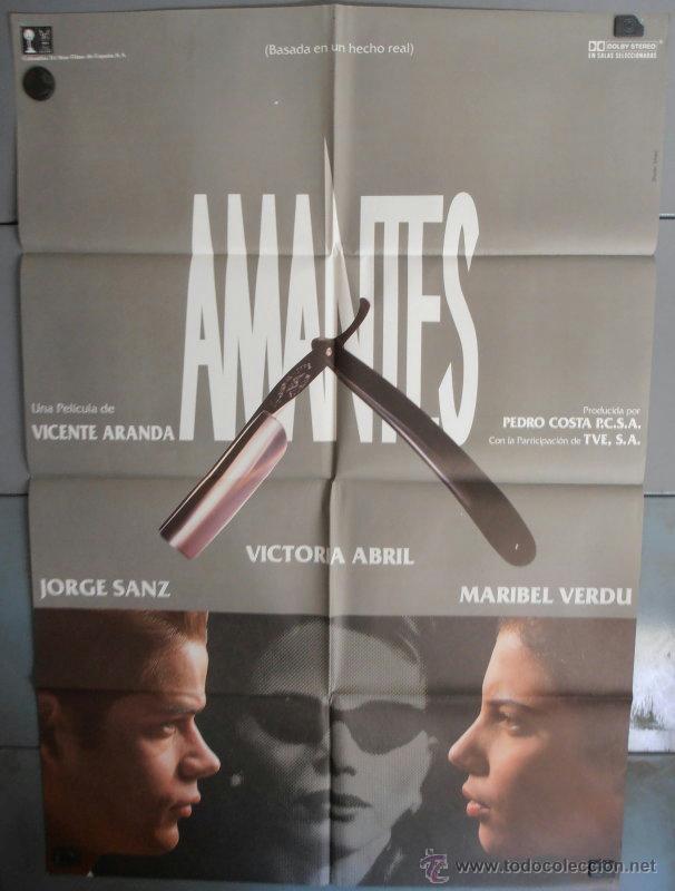 AMANTES,V.ABRIL, JORGE SANZ, MARIBEL VERDU CARTEL DE CINE ORIGINAL 70X100 APROX (2016) (Cine - Posters y Carteles - Clasico Español)