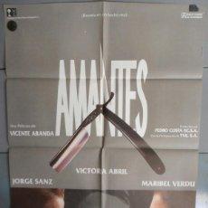 Cine: AMANTES,V.ABRIL, JORGE SANZ, MARIBEL VERDU CARTEL DE CINE ORIGINAL 70X100 APROX (2016). Lote 43397142