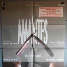 Cine: AMANTES,JORGE SANZ, MARIBEL VERDU, VICTORIA ABRIL CARTEL DE CINE ORIGINAL 70X100 APROX (2475). Lote 43449388