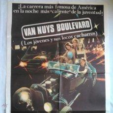 Cine: PÓSTER ORIGINAL VAN GUYS BOULEVARD (LOS JÓVENES Y SUS LOCOS CACHARROS). Lote 43478782