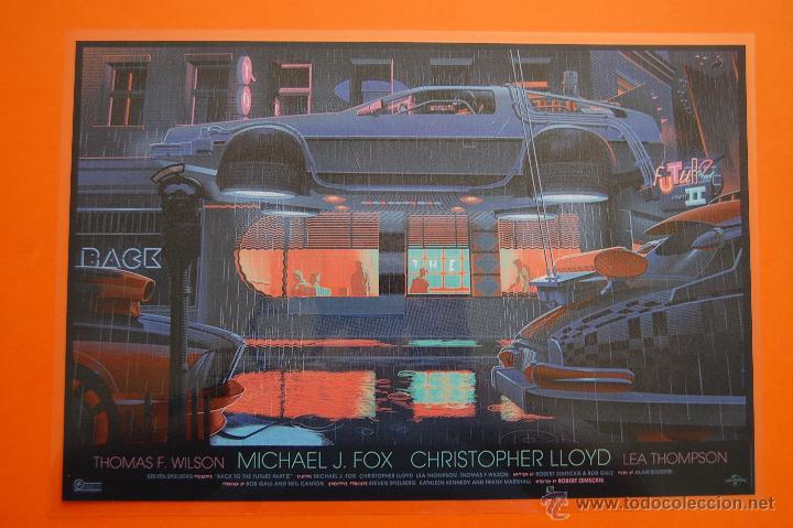 CARTEL - REPRODUCCIÓN PUBLICIDAD REGRESO AL FUTURO II BACK TO THE FUTURE II- AM.APROX. DINA3PLASTIF. (Cine - Posters y Carteles - Ciencia Ficción)