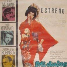 Cine: MI DULCE GEISHA-POSTER ORIGINAL A COLOR DE 1962, MEDIDAS:100X70CM ,ESTRENO- RF/POSTER-15. Lote 183974387