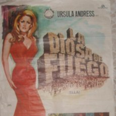 Cine: LA DIOSA DE FUEGO, URSULA ANDRESS CON PETER CUSHING ,CHRISTOPHER LEE, JOHN RICHARDSON,RF/POSTER-13. Lote 43573244